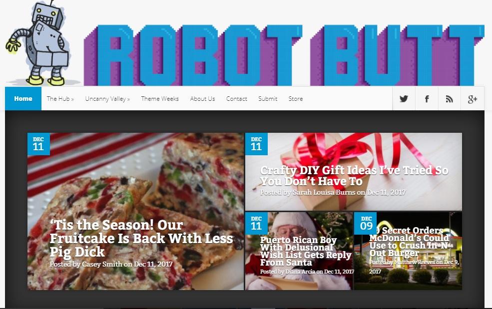 Better Robot Butt Fruitcake